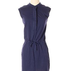XS GAP Sleeveless Cotton Dress drawstring, pockets